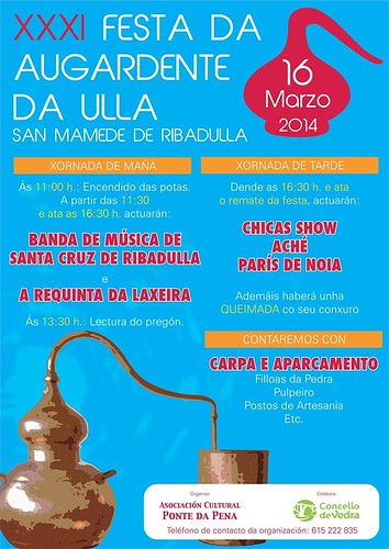 Vedra 2014 - Festa da augardente do Ulla en San Mamede de Ribadulla - cartel