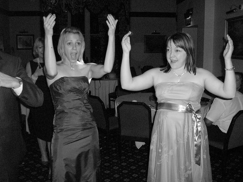 Karen & Stephanie doing the YMCA