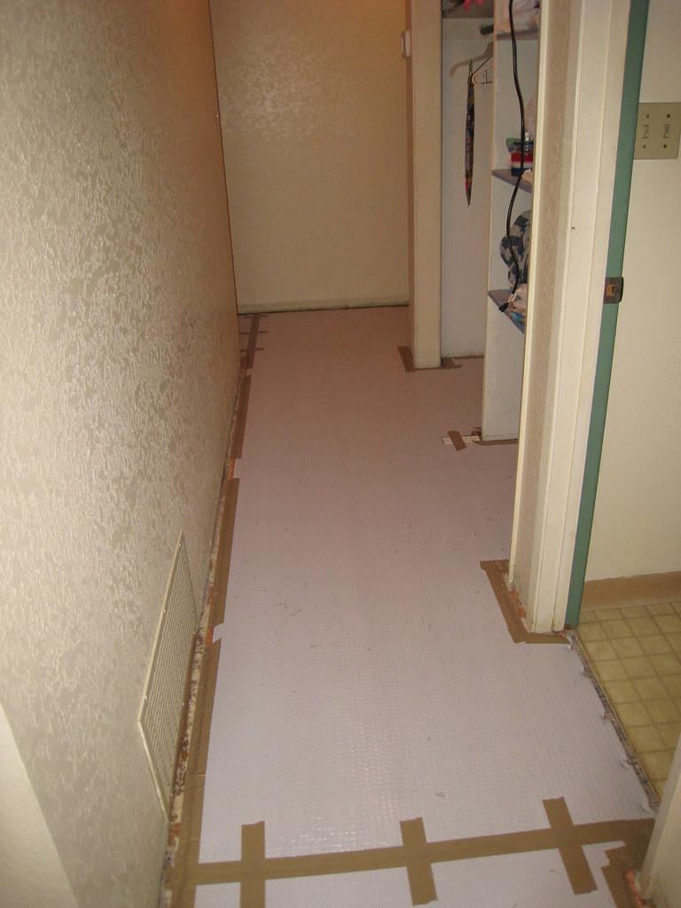 Hallway during carpet installation II
