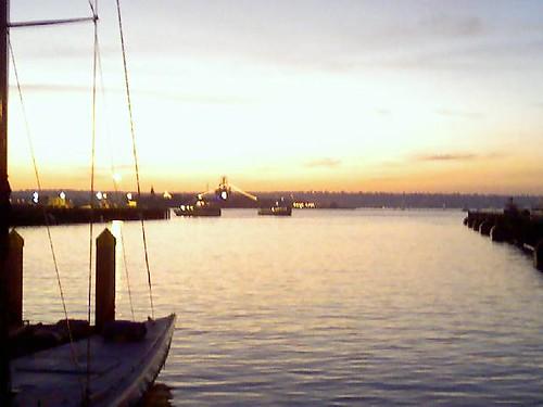 Embarcadero during sunset