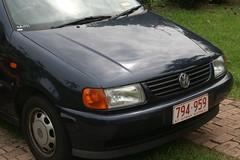 automobile(1.0), automotive exterior(1.0), volkswagen(1.0), vehicle(1.0), bumper(1.0), volkswagen polo(1.0), land vehicle(1.0),
