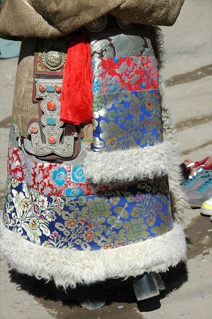 Colorful Tibetan Coat - Xiahe, China
