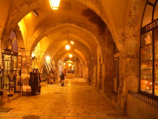 Walking thru a newer part of old Jerusalem
