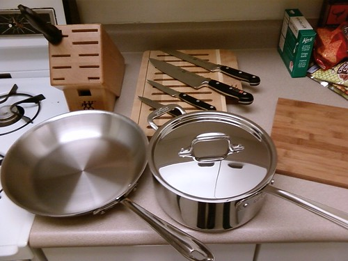 New Pot, Pan, and Knives!