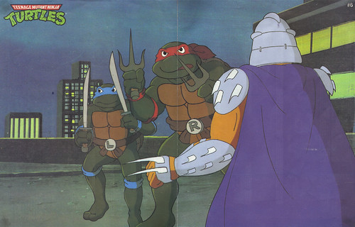 TEENAGE MUTANT NINJA TURTLES :: Limited Edition Turtle Poster / Toy Checklist # 6 i (( 1991 ))