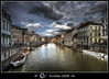 River Leie seen  from the Vleeshuisbrug, Gent, Belgium by Erroba
