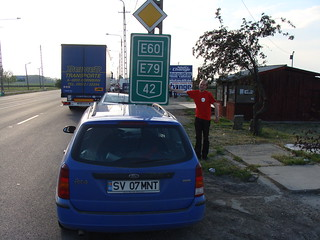 The Hungarian-Romanian border in Romania