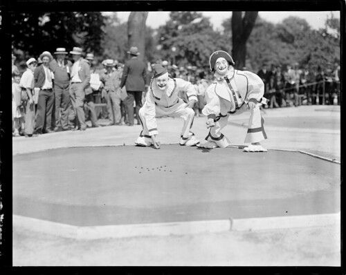 Clowns playing marbles, when the circus comes to town by Boston Public Library, on Flickr