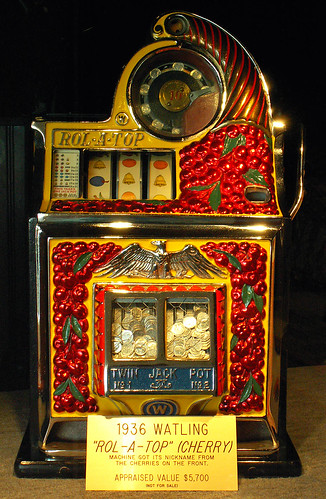 "1936 Watling ""Rol-a-top"" Cherry, Antique Slot Machine 