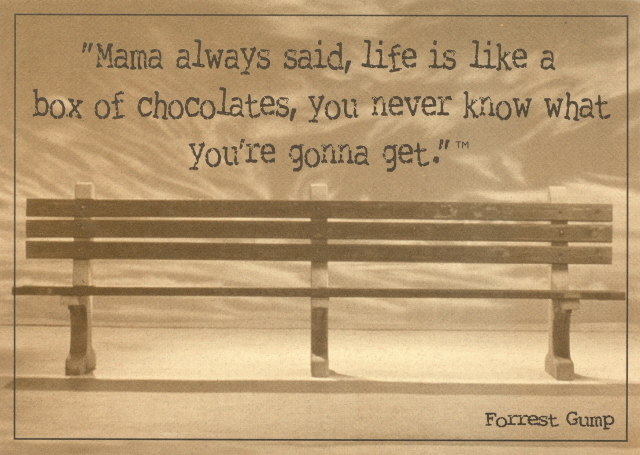 Movies - Forrest Gump, Chocolates