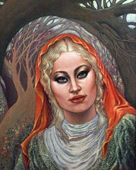 Orange Scarf (painting) The Woods (poem)
