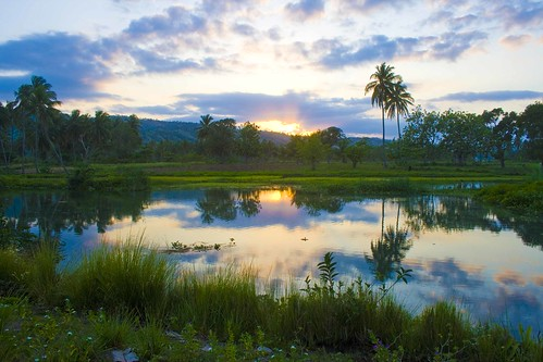 sunset cloud sun mountain color reflection tree water beautiful grass clouds creek river haiti bush stream paradise palm reflect soe firstquality flickrsbest mywinners abigfave anawesomeshot diamondclassphotographer theunforgettablepictures timhaiti 100earthcomments