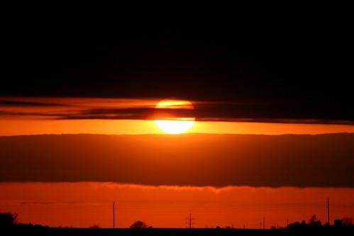 sunset sky orange sun clouds horizon iowa markevans chimothy27