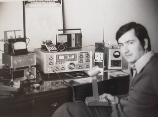 My amateur radio station in mid 70´s.
