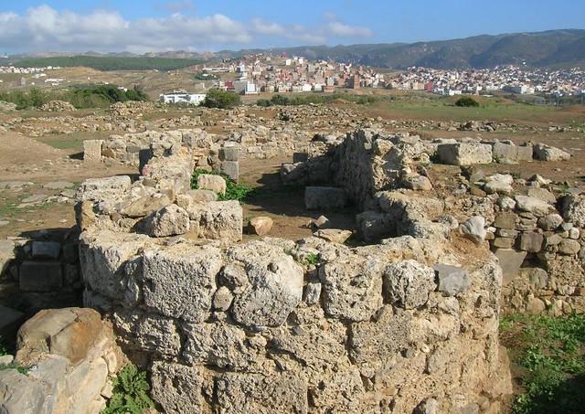 Otra perspectiva del bastión defensivo romano (Tetuán, Morocco)