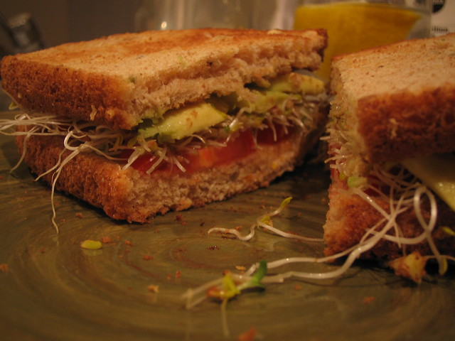 Avocado and Sprout Sandwiches | Flickr - Photo Sharing!