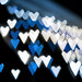 jagged blue hearts