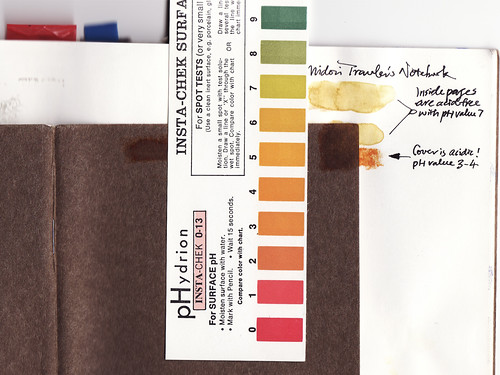 Traveler Notebook Acidity Test