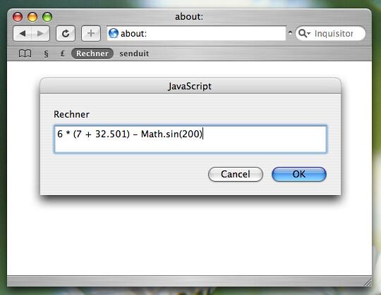 My Calculator Bookmarklet (I/II)