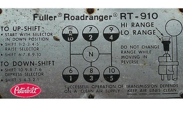 Eaton Fuller 10 speed  RT-910 transmission