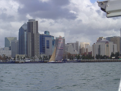 some racing boat and san diego