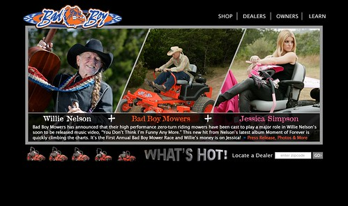 Bad boy mowers willie nelson jessica simpson by steven trotter