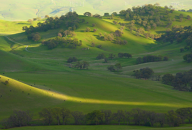 shadows covering round valley by Marc Crumpler (Ilikethenight)