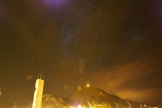 startrails over copacabana | by roomtwoothree