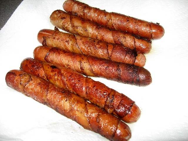 Bacon-wrapped Hot Dogs | Flickr - Photo Sharing!