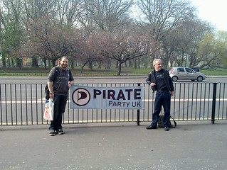 Pirate Party street stand, Whitworth Park, Rushholme