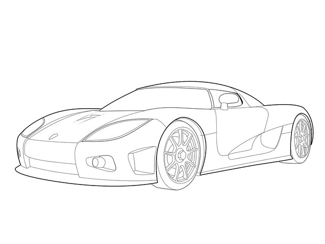 Koenigsegg Agera R Logo Drawing Sketch Coloring Page