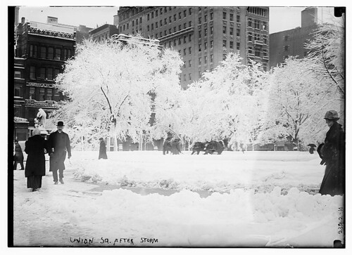 Union Sq. after storm  (LOC)