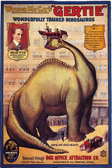 Poster for Winsor McCay's third animated film, 'Gertie the Dinosaur' (1914).