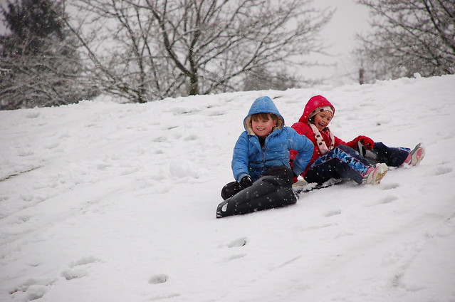 Sledding at Forglen - 07