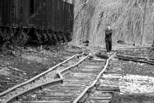 railroad bw white black abandoned car neglect ties rust pennsylvania top decay candid union tracks tie rail railway east mount pa railcar forgotten coal broad railyard gauge narrow hopper alignment ebt originalworks eastbroadtop thiopheneguy designstudy broadtop ebtrr utatamino