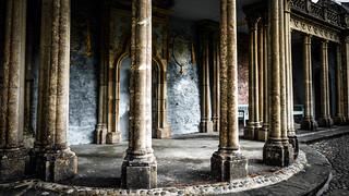 Pillar Stage, The Prisoner, Portmeirion, Wales, UK