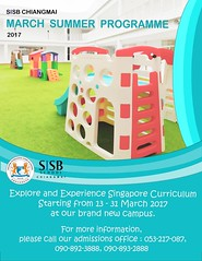 Singapore International School Bangkok SISB Chiang Mai Thailand Summer Camp March 2017