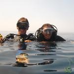 Dan & Audrey In Water - Menjangan Island, Indonesia