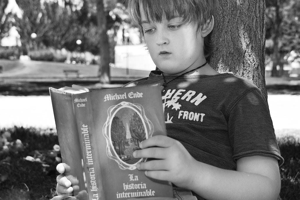 Una historia en tres imágenes:  Un libro - El lector
