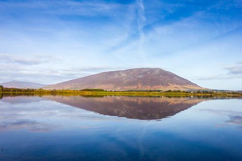ireland sky lake reflection landscapes view scenic countymayo nephin lahardane