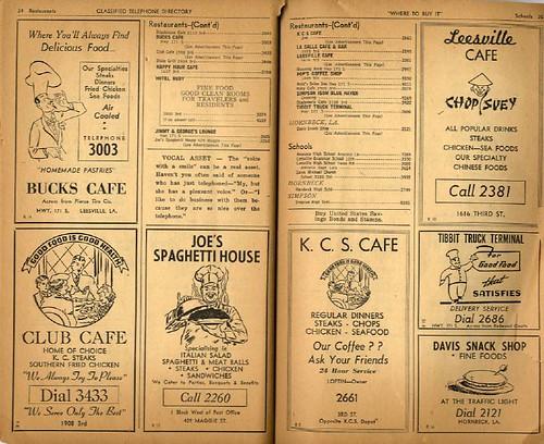 Leesvile Telephone Directory, 1953