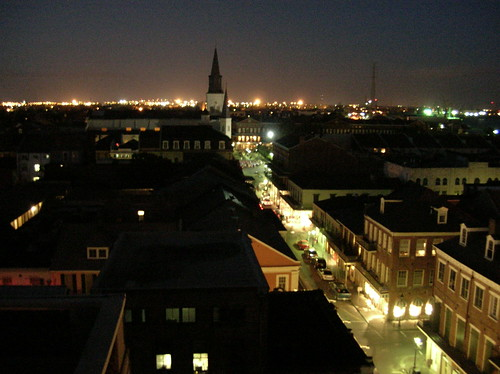 Chartres Street at Night