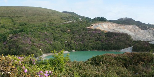 Former China Clay Pit close to Greensplat near St.Austell by Stocker Images