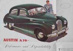Austin A70 export brochure