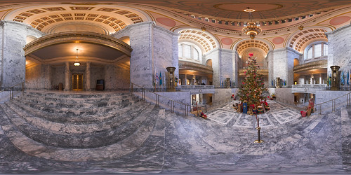 christmas usa washington capitol olympia wa equirectangular akameus perfectpanorama randykosek vrpanorama clearlightphotography copyrightclearlightphotography