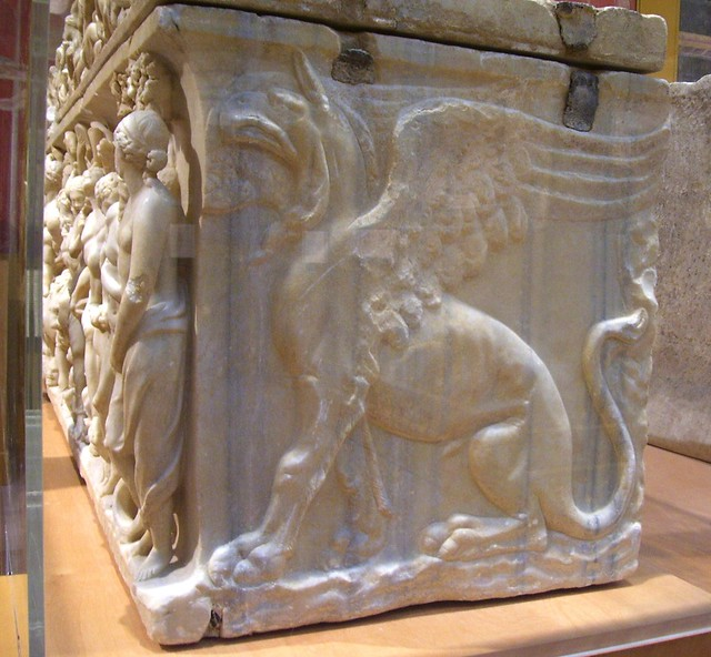 analysis of sarcophagus with the triumph of dionysus and four seasons