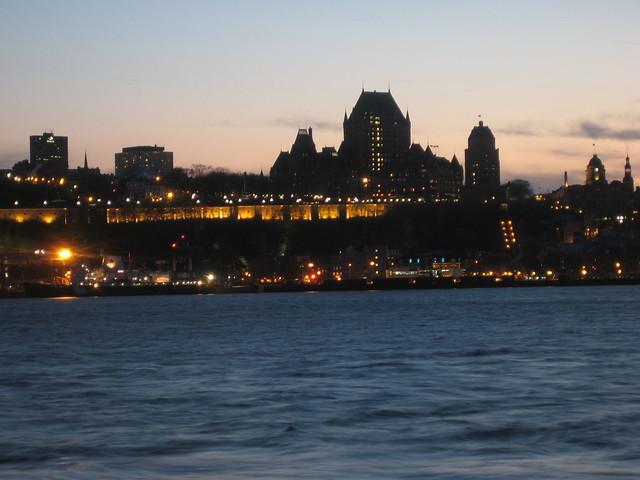 Québec City by night