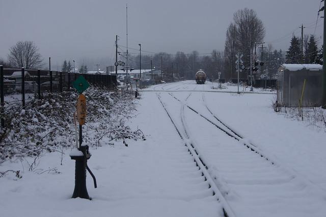 Railway Tracks lead away, Sony SLT-A33, Sony DT 18-55mm F3.5-5.6 SAM (SAL1855)