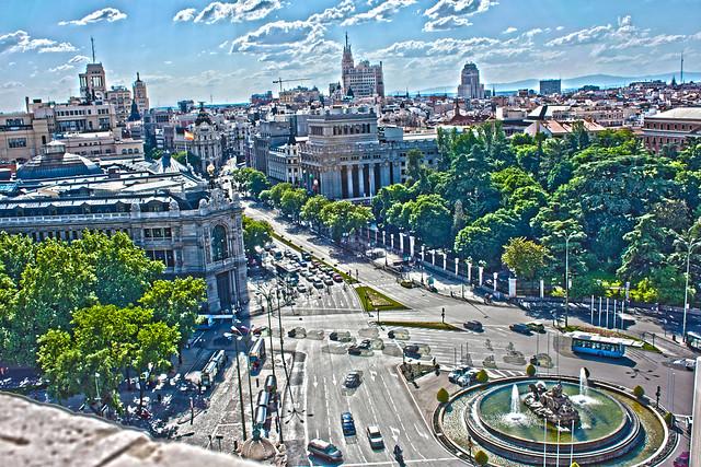 Madrid desde el ayuntamiento en HDR