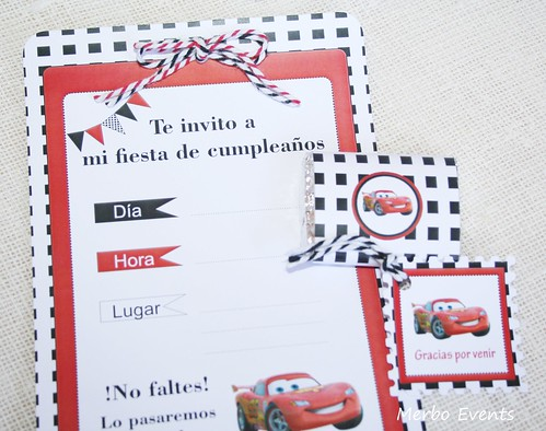 Minichocolatinas Kit imprimible Cars Merbo Events